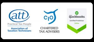 ATT, CIO, Quickbooks logos